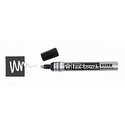 Sakura Pentouch Permanent Marker (Silver) - Medium Point