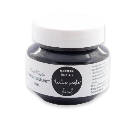 CrafTangles mixed media essentials - Texture Paste - Black (Charcoal) (120 ml)
