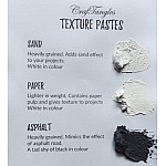 CrafTangles mixed media essentials - Texture Paste - Asphalt - black sand (120 ml)