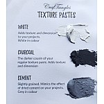 CrafTangles mixed media essentials - Texture Paste - Charcoal (120 ml)