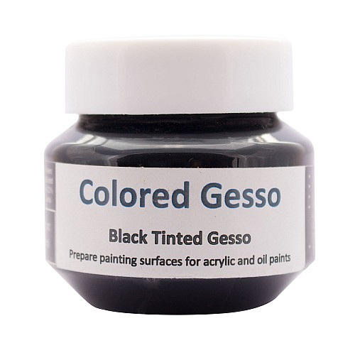 Hakims Colored Gesso (136 ml)  - Black