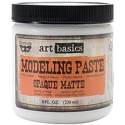 Finnabair Art Basics Modeling Paste - Opaque Matte (8oz)