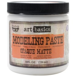 Prima Finnabair Art Basics Modeling Paste - Opaque Matte (8oz)