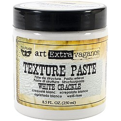 Finnabair Art Extravagance Texture Paste - White Crackle (8.5 oz)