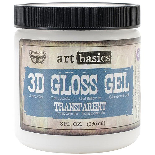 Prima Finnabair Art Basics 3D Gloss Gel - Transparent 8oz