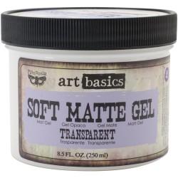 Prima Finnabair Art Basics Soft Matte Gel - Transparent (8.5 oz)