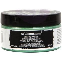 Prima Finnabair Art Extravagance Icing Paste 120ml Jar - Lucky Emerald