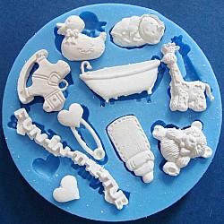 Baby Fun in the Tub Silicon Clay Mold