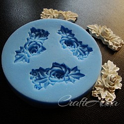 Rose Flower branch silicon clay mold