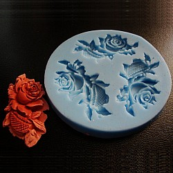 Rose Flower with Leafs Silicon Clay Molds