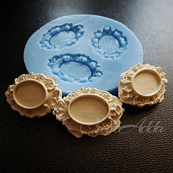 Oval Frame Pendant Silicon Clay Mold