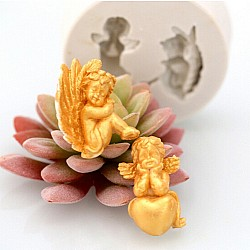 Two Angels Silicon Clay Mold