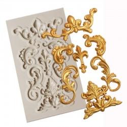 Ornate Flourishes Silicon Clay Mold