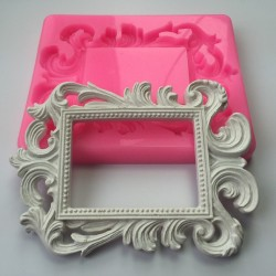 Rectangle Swirl Frame Silicon Clay Mold