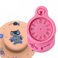 Vintage Clock Silicon Clay Mold