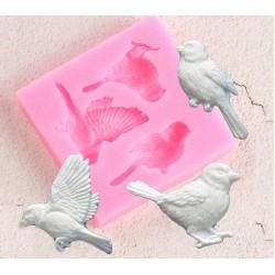 Birds Silicon Clay Mold