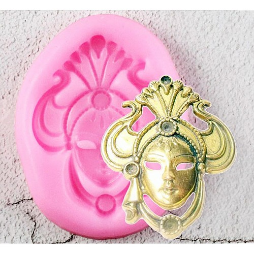 Ornate Mask Silicon Clay Mold
