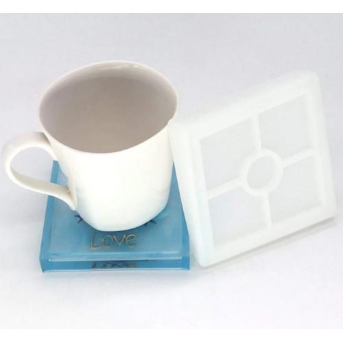 Square Coaster Silicon Clay Mold