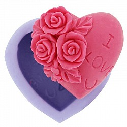 I Love you Designer Heart Silicone Soap Mold