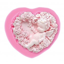 Angel Heart Silicone Soap Mold
