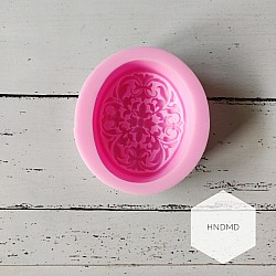Oval Vintage Silicone Soap Mold
