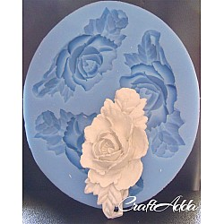 Rose with a rose bud Silicon Clay Mold