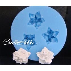 5 petal bunch roseSilicon Clay Mold