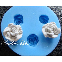 Soft Rose Flower Medium Silicon Clay Mold