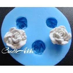 Soft Rose Flower Medium Silicon Clay Mold