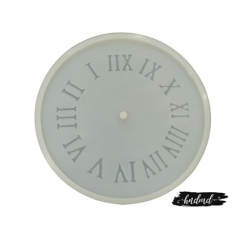 8 inch Roman Numbers Clock Silicone Resin Mould