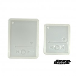 Music Keychains (Spotify) Resin Silicone Mould - Set of 2