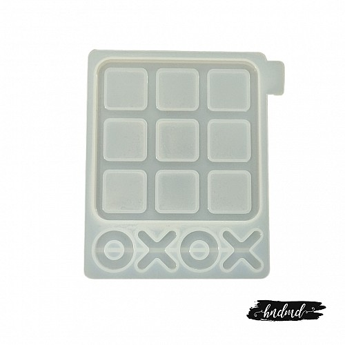 Tic Tac Toe Resin Silicone Mould
