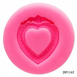 Heart Shaped Frame Silicon Clay Mold