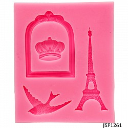 Eifel Tower and frame Silicone Clay Mould