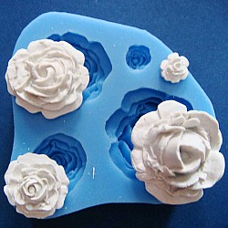 Mixed Size Roses Silicone Clay Mould