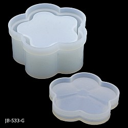 Silicone Jewellery Flower Box Moulds (Base and Lid) (JB-533-G)