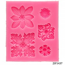 Ornate squares Silicone Clay Mould