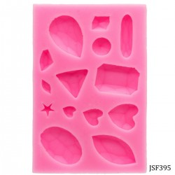 Different shaped gemstones Silicone Jewellery Mould