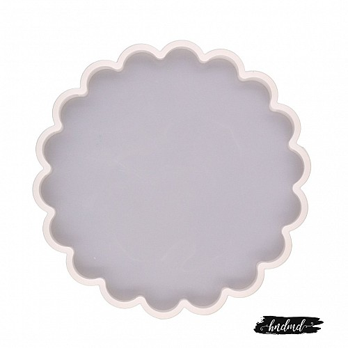 Scalloped Sqaure Silicone Mould