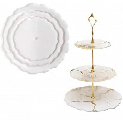 3 Tier Circular Resin Silicone Mould (Cake Stand)