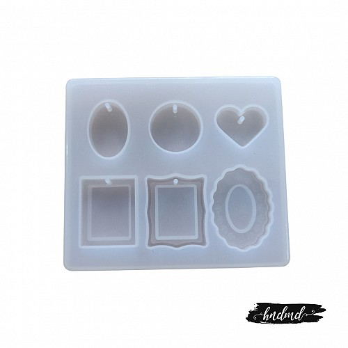 Different Pendants Silicone Jewellery Mould (RAWS-177)