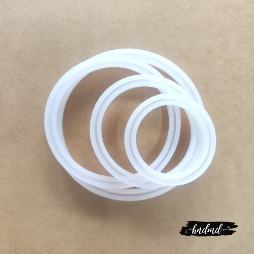 Different Bangles or Rings Silicone Jewellery Mould (Set of 4 moulds)