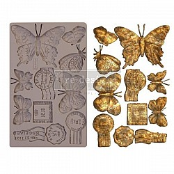 Iron Orchid Designs Vintage Art Decor Mould - Butterfly in Flight