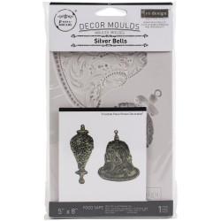 Iron Orchid Designs Vintage Art Decor Mould - Silver Bells