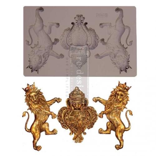 Iron Orchid Designs Vintage Art Decor Mould - Royal Emblem