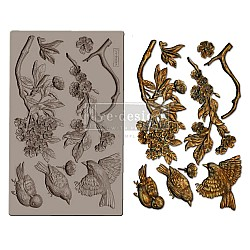 Iron Orchid Designs Vintage Art Decor Mould - Aviary