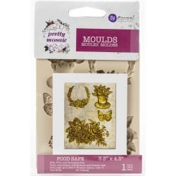 "Prima Marketing Decor Mould 3.5""X4.5""X8mm - Pretty Mosaic"