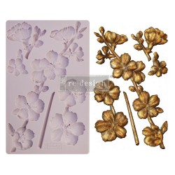 "Prima Marketing Re-Design Mould 5"" X 8"" - Botanical Blossoms"