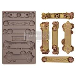 """Prima Marketing Re-Design Mould 5"""" X 8"""" - Steampunk Plates"""