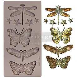 """Prima Marketing Re-Design Mould 5"""" X 10"""" - Insecta and Star"""